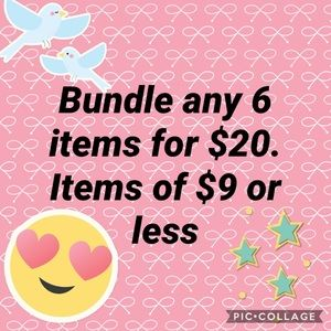 Other - Bundle any 6 items of $9 or less.